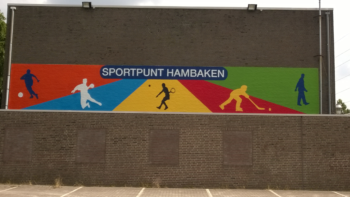 Sportpunt Hambaken Muurschildering