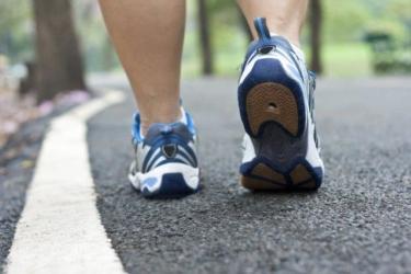 Wandelen Sportschoenen Op Asfalt