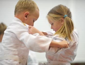 Judo Jongen En Meisje