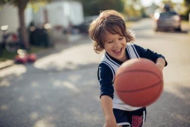 Baketbal Jongen Buiten