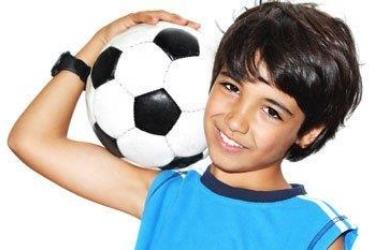 Voetbal Jongen Met Bal