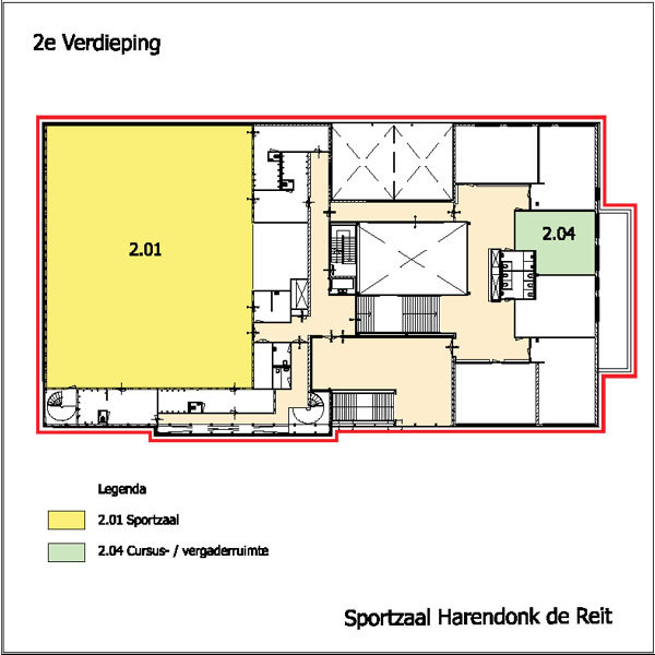 Hdr Plattegrond Sportzaal