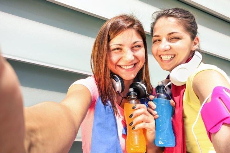 Sport Meiden Maken Selfie