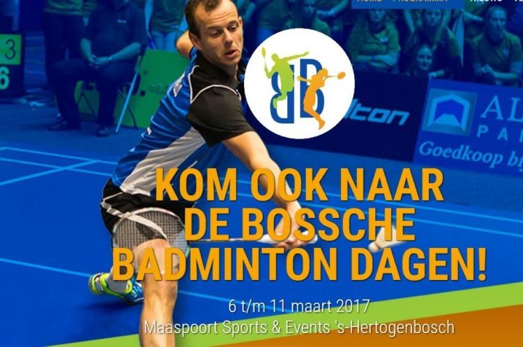 Afbeelding van een uitnodiging om te komen kijken naar de badmintondagen