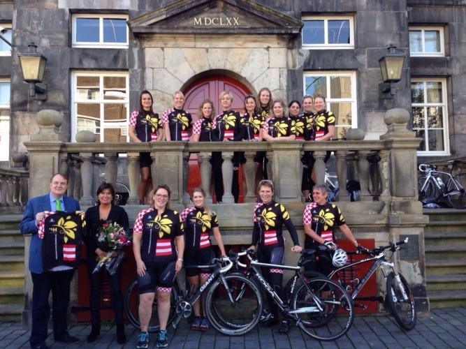 Persmoment Vrouwenwielrennen  S Hertogenbosch 2