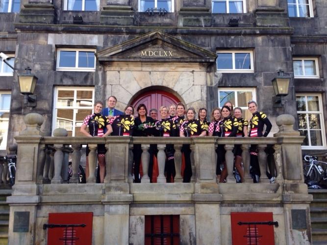 Persmoment Vrouwenwielrennen  S Hertogenbosch 3