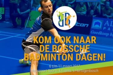 Nieuwe website Bossche Badminton Dagen