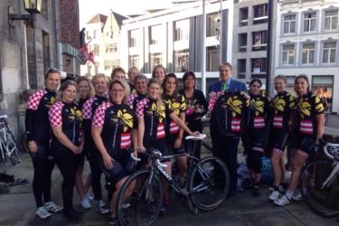 Persmoment Vrouwenwielrennen  S Hertogenbosch 1 01