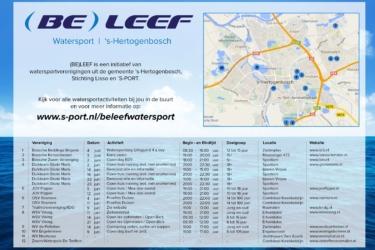 MC Reclame ontwikkelt logo en flyer voor (BE)LEEF Watersport