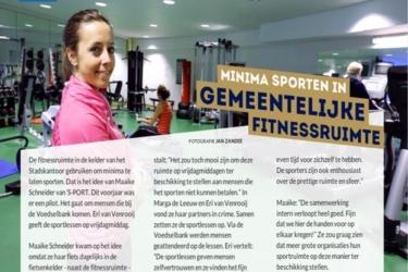 Minima kunnen sporten in fitnessruimte gemeente