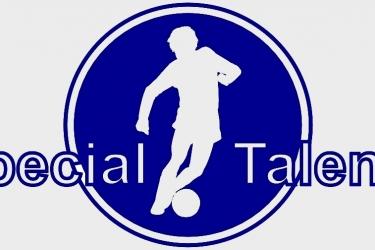 Special Talents logo blauw wit