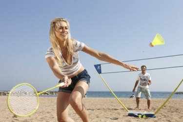 Badmintonnen, Beach volleyball of Beach tennis bij MSE!