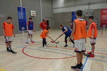 Basketbal En Turnen Spelen Hockey