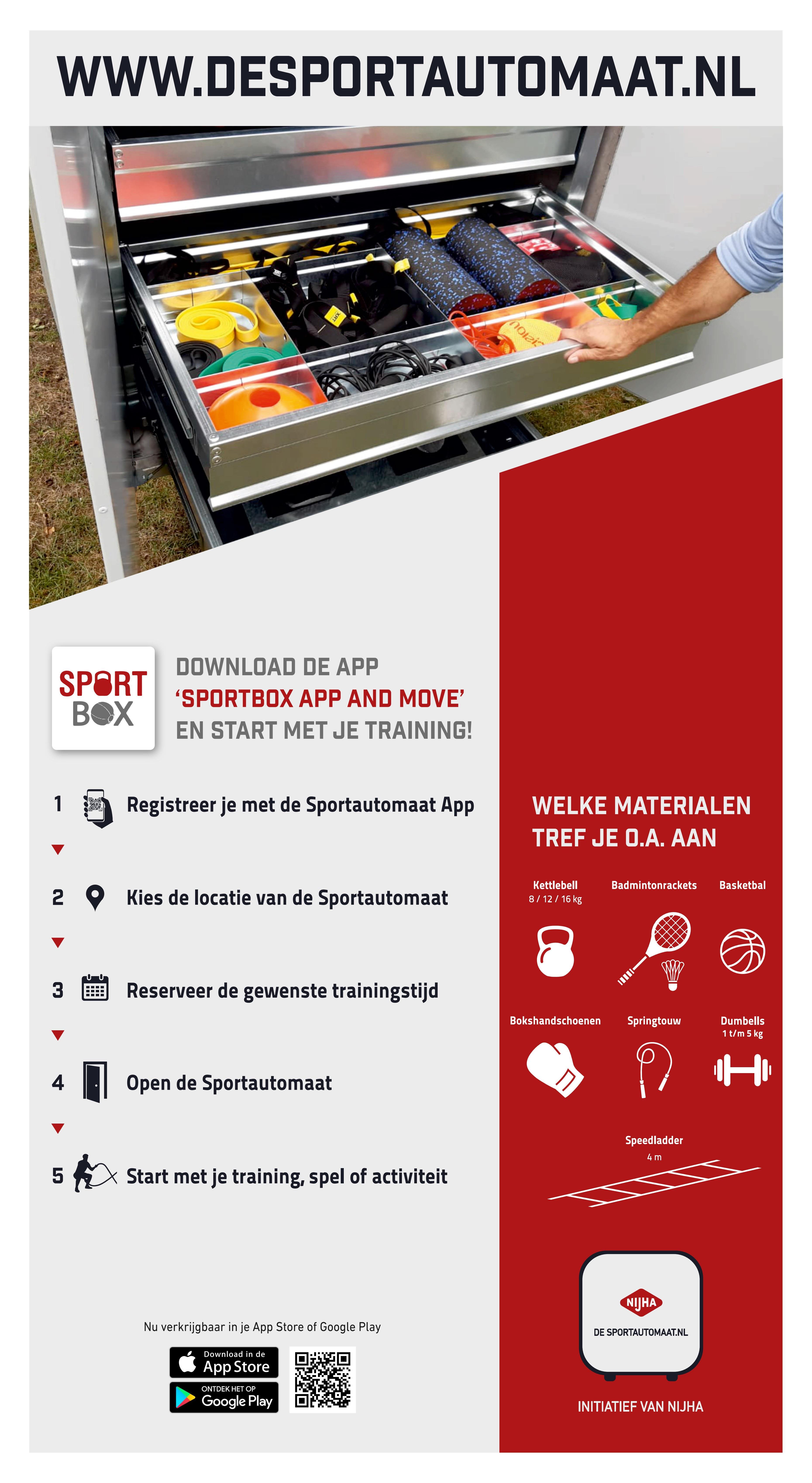 Poster Sportautomaat zijkant DEF