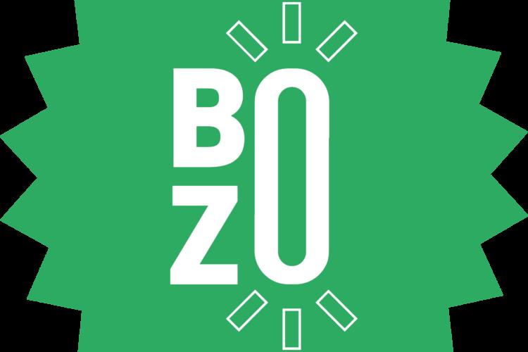 groene ster op zwarte achtergrond met witte afkorting BZO